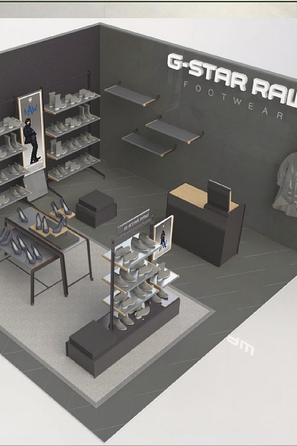 stories g star raw footwear launches new shop in shop concept. Black Bedroom Furniture Sets. Home Design Ideas