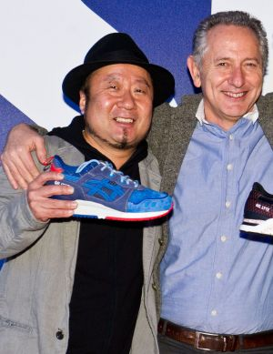Gel-Lyte II designer Mitsui-San with Asics' Alistair Cameron