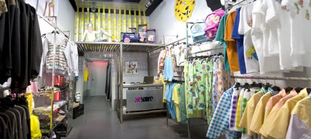 General view of the KR Store and its colorful fashion selection