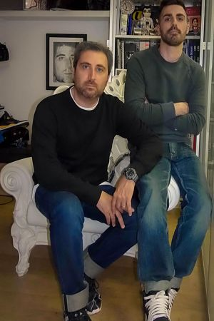 Gianluca Salute (left) and sales manager Marco Rossetto