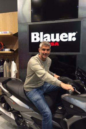 Giuseppe D'Amore, creative mind behind the Blauer Hi.Tech collection