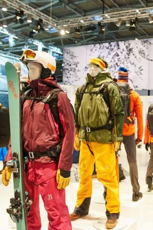 Haglöfs display at the recently-closed Ispo Munich edition