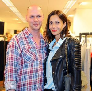 Hans Weber and Anita Tillmann during the store opening