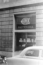 Historical luxury patisserie shop Cova Montenapoleone, Milan.
