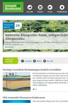 Homepage of the German Federal Environment Agency