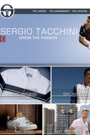Homepage of the sports apparel company