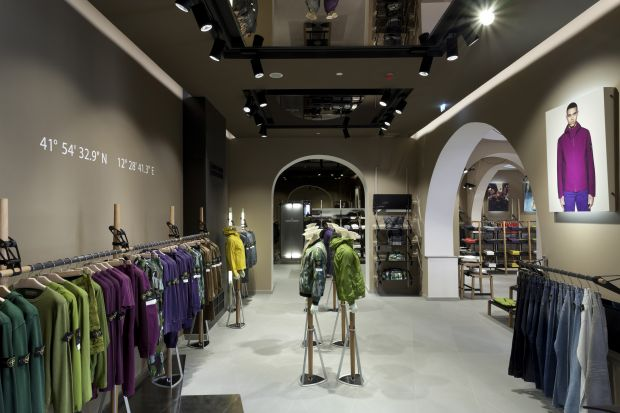 Impression of the Stone Island store in Rome