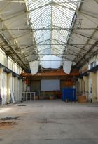 Industrial atmosphere inside the Rheinbeckhallen