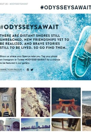 Information about the #Odysseysawait campaign on Sperry's website