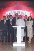 Initiators and guests unveiling the CEBAI logo