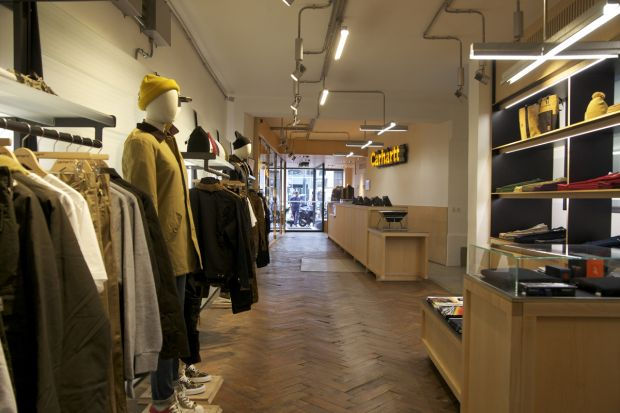 Inside Carhartt's redesigned Paris store