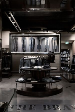 Inside one of the new Diesel stores in Rome