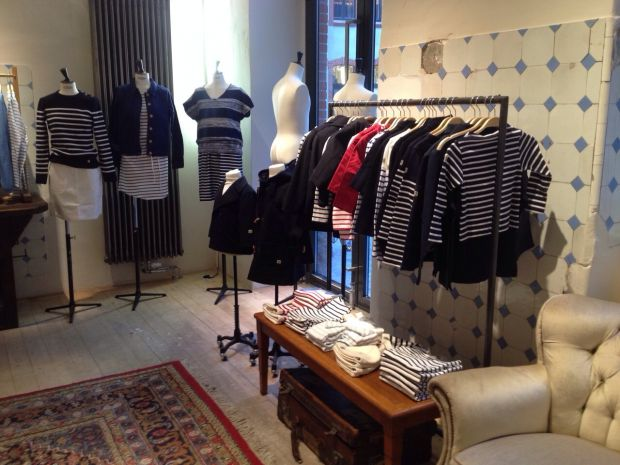 Inside the Berlin store: stripes are everything