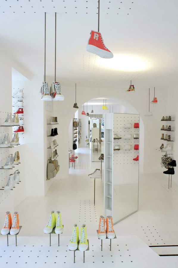 Inside the Ruco Line store in Rome