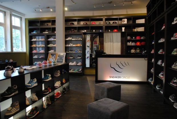 Inside the cozy Sneaker Circle store