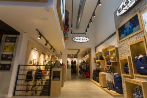 Inside the new Eastpak monobrand store