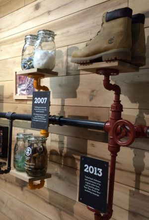 Inside the new Timberland showroom