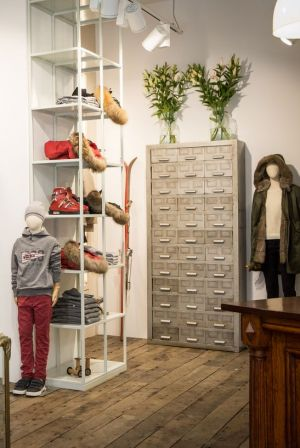 Inside the new Woolrich store in Prague