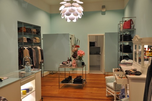 Interior view of the Blue Sense store