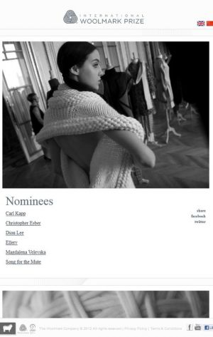 International Woolmark Prize nominees online