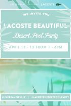 Invite for the Lacoste pool party at Coachella
