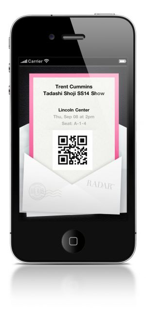 Invite to a fashion show through the app