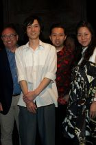 K. Matsushige with Philippe Pasquet (Première Vision) and C. Lim & H. Leon (Kenzo)