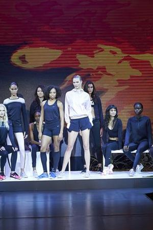 Karlie Kloss, face of Nike, at the SS'15 collection presentation