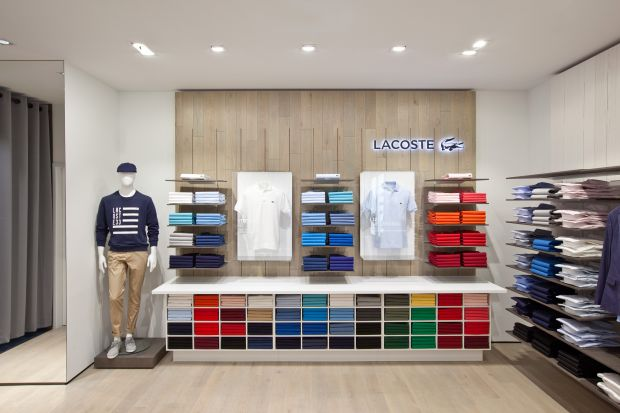 Lacoste´s boutique from the inside