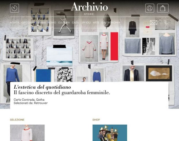 Landing page of archiviostore.it
