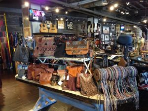 Leather goods section at Two Old Hippies