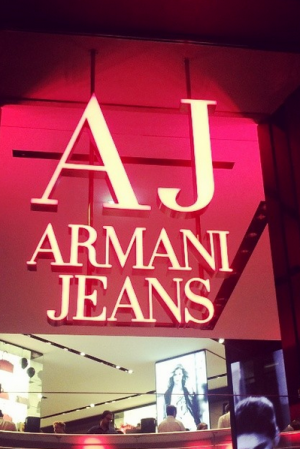 Look into an Armani Jeans store