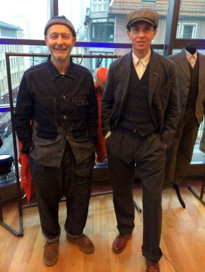 Lovely to speak to: Nigel Cabourn and Drew Holmes