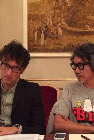 Massimiliano Bizzi (founder White) and Akira Ishiwatari (designer and founder Plato)