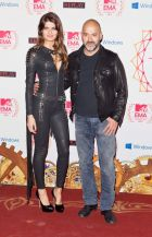 Matteo Sinigaglia with model Isabeli Fontana (in Replay) at the MTV EMA in Frankfurt