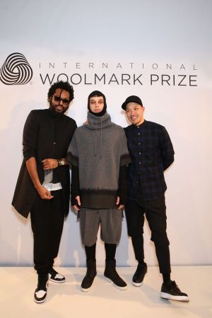Maxwell Osborne (left), model and Dao-Yi Chow (right), the designers behind Public School