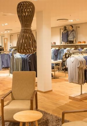 Menswear space in the newly designed Berlin store
