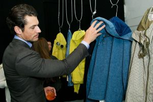Model David Gandy at the CP Company presentation in London