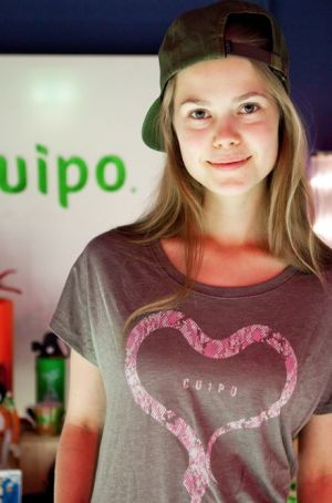 Model in Cuipo shirt