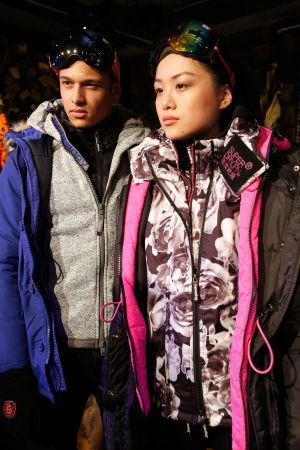 Models wearing Superdry FW2015 collection items