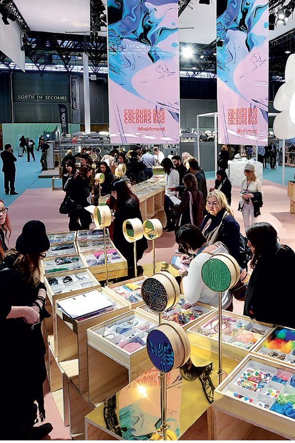 More than 58.000 visitors attended the Paris fabric fairs