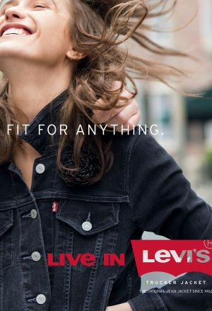 New campaign image promoting Levi's trucker jacket