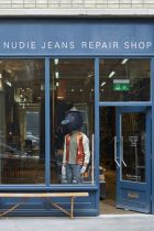 Nudie Jeans' new repair shop in London Shoreditch