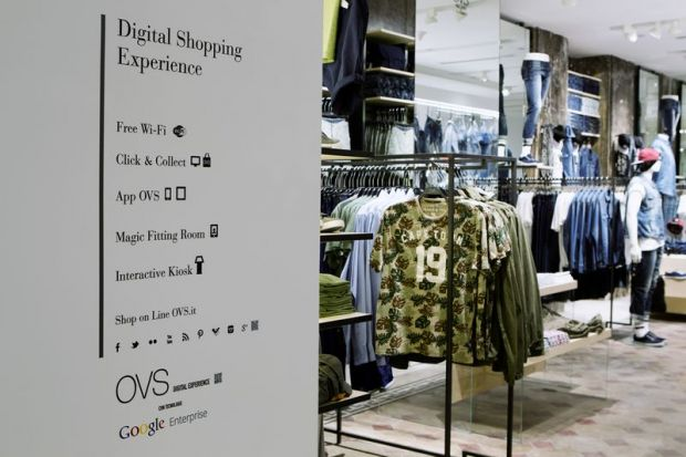OVS and Google Enterprise have partenered to implement the latest retail technologies