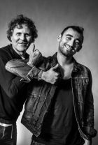 Officially joined Diesel as Artistic Director in April: Nicola Formichetti (r.) with Renzo Rosso