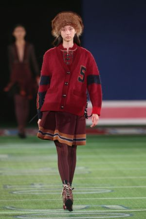 One of the runway looks at the Tommy Hilfiger fashion show