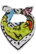 One of the scarves from the Keith Haring Capsule Collection