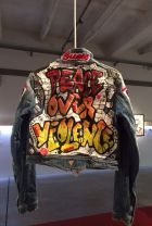 One of the Guess jackets auctioned for charity