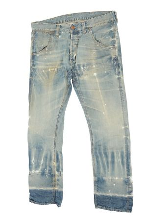 Pair of denims, treated by Martelli