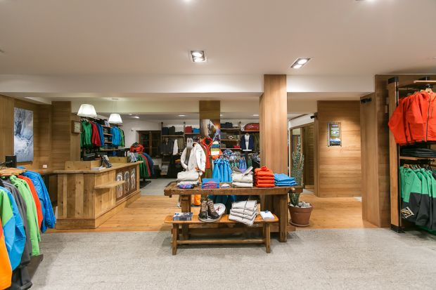 Patagonia store in Chamonix: ground floor